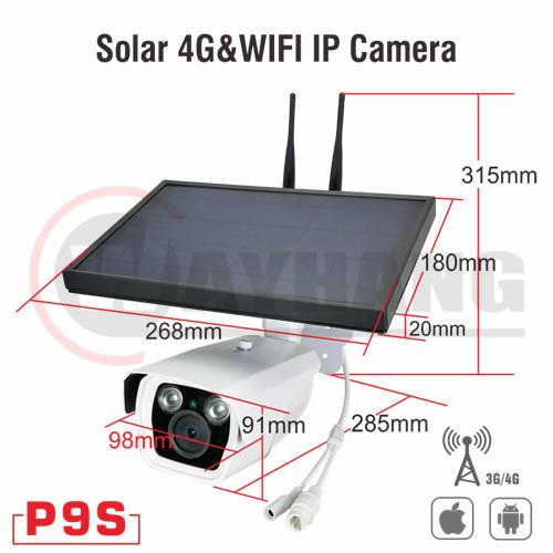 720p network wifi cctv hd 4g outdoor wireless solar power