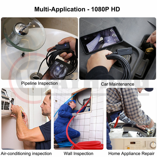 Semi-rigid 5.5MM Endoscope 2.0 MP HD WiFi Inspection Camera for Android and IOS Smartphone