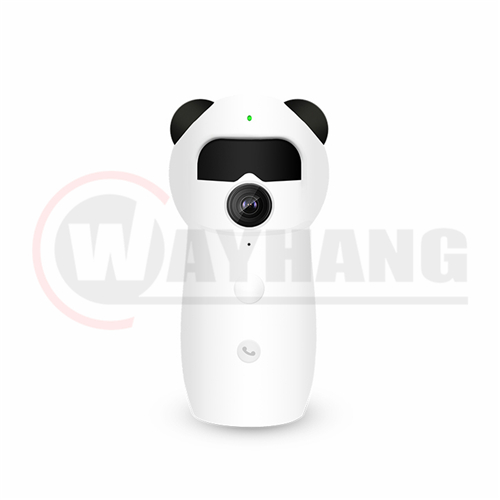 Wide angle Smart cartoon WIFI camera with Infrared human body induction and One-touch call