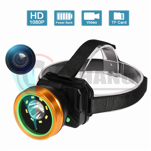 1080P Rechargeable Headlamp IP66 Waterproof head lamp Outdoor headlight Sports