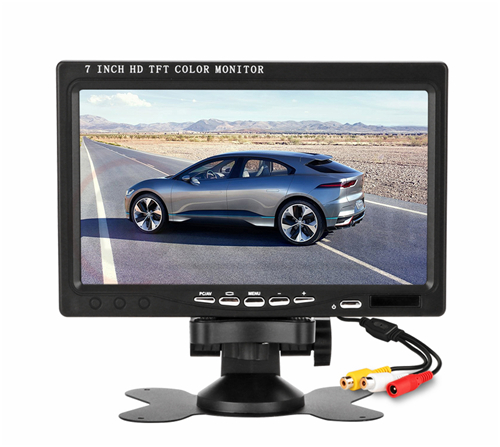 7 Inch HD IPS TFT LCD Color Multifunction Car Headrest Rear View Monitor